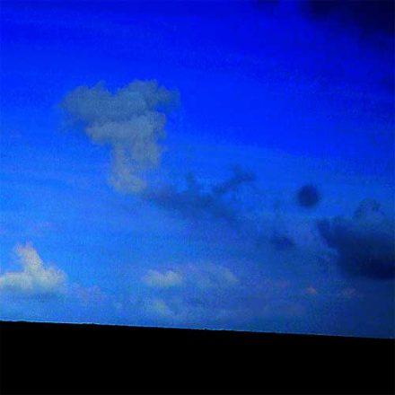 Unnaturally blue sky - I wonder...